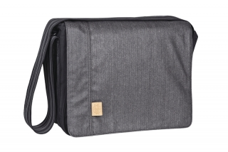 CASUAL MESSENGER BAG - twill black